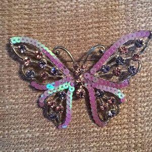 Bob Mackie stunning Butterfly Brooch